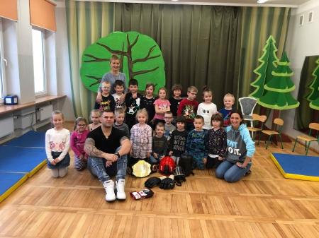 Marcin Zontek - spotkanie z przedszkolakami